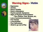 warning signs victim