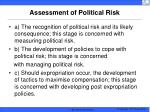 assessment of political risk