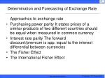 determination and forecasting of exchange rate