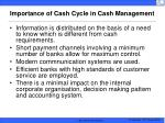 importance of cash cycle in cash management