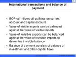 international transactions and balance of payment