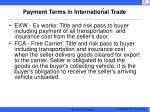 payment terms in international trade