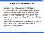 world wide capital structure
