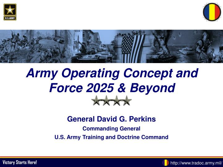 Change Of Direction In Afghanistan >> PPT - Army Operating Concept and Force 2025 & Beyond PowerPoint Presentation - ID:5633605