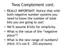 twos complement cont