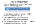 twos complement