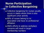 nurse participation in collective bargaining