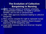 the evolution of collective bargaining in nursing