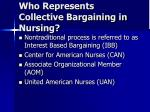 who represents collective bargaining in nursing