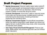 draft project purpose