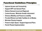 functional guidelines principles