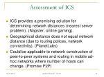 assessment of ics