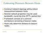 estimating distances between hosts