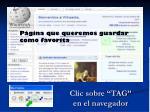 clic sobre tag en el navegador