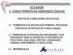 ecuador 3 caracter sticas hidrogeol gicas