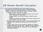 db pension benefit calculation
