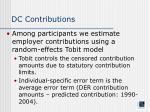 dc contributions