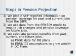 steps in pension projection