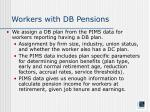 workers with db pensions