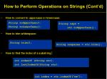 how to perform operations on strings cont d