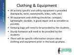 clothing equipment