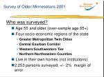 survey of older minnesotans 2001