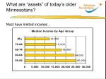 what are assets of today s older minnesotans