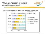 what are assets of today s older minnesotans1