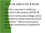from sb 1440 to cec 66746