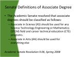 senate definitions of associate degree