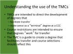 understanding the use of the tmcs