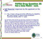 fafsa drug question 35 not a data match cont1