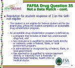 fafsa drug question 35 not a data match cont2