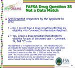 fafsa drug question 35 not a data match1