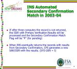 ins automated secondary confirmation match in 2003 041