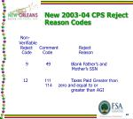 new 2003 04 cps reject reason codes3