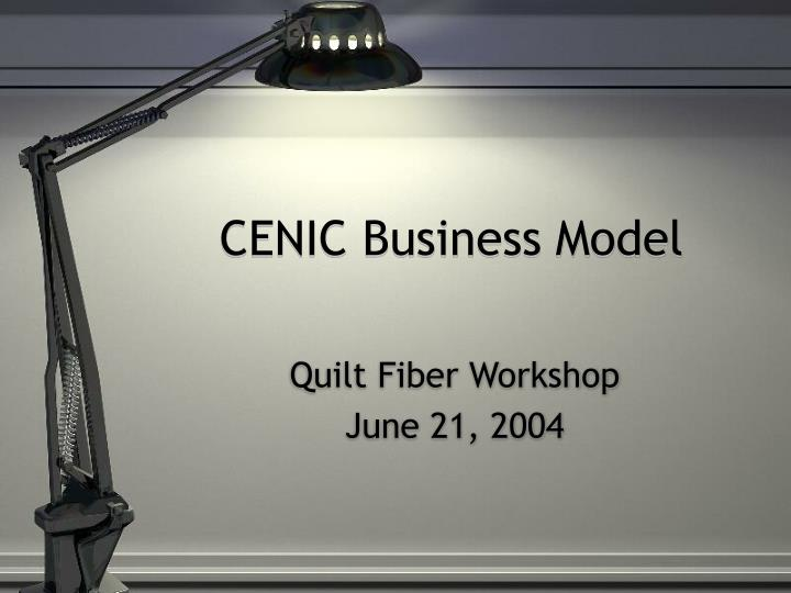cenic business model n.