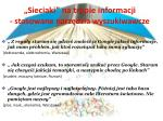 sieciaki na tropie informacji stosowane narz dzia wyszukiwawcze