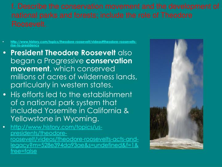 the role of theodore roosevelt in the progressive movement