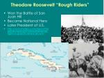 theodore roosevelt rough riders