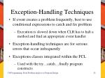 exception handling techniques