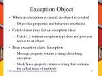 exception object
