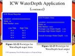 icw waterdepth application continued1