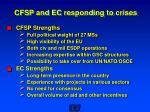 cfsp and ec responding to crises