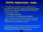 eupol afghanistan tasks