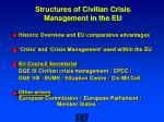 structures of civilian crisis management in the eu