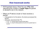 how traceroute works