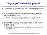 topology misleading word