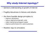 why study internet topology