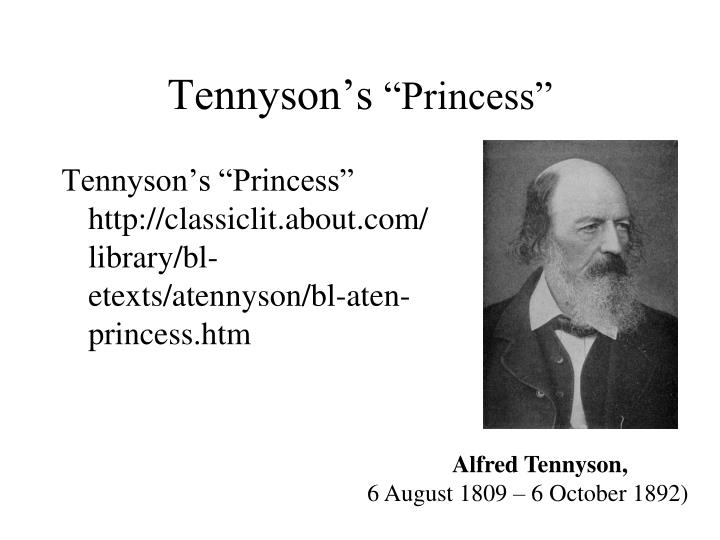 tennyson s princess n.